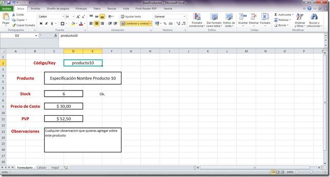 como armar una base de datos en excel
