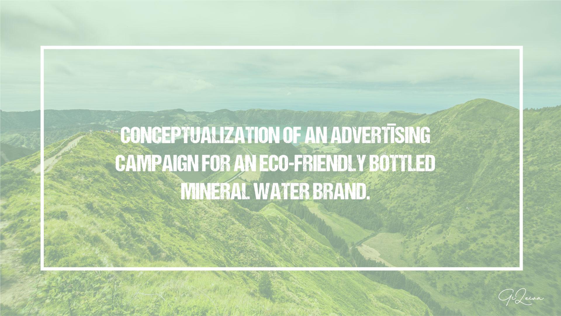 mineral water conceptualization marketing campaign