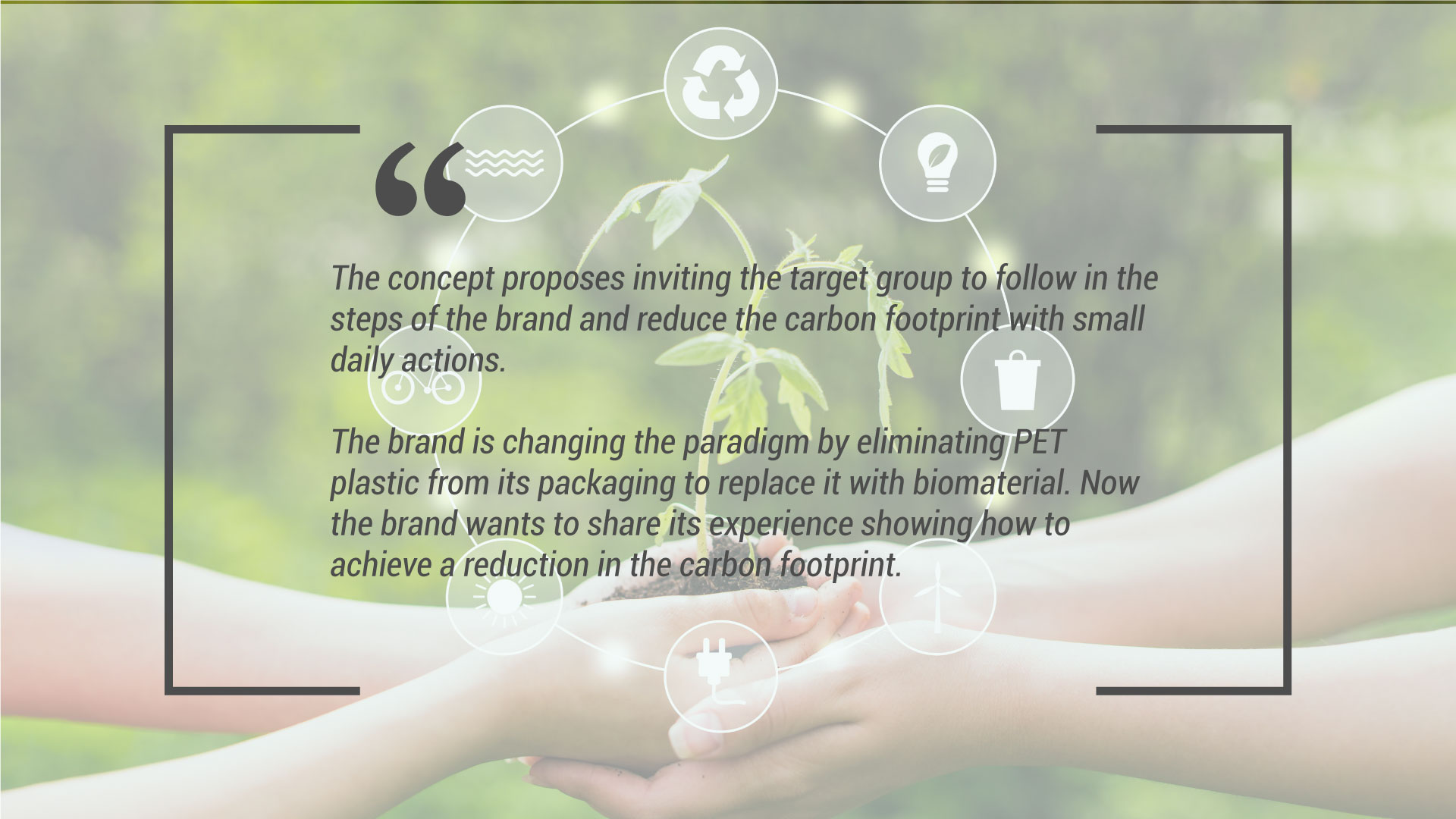 conceptualization and advertising marketing campaign